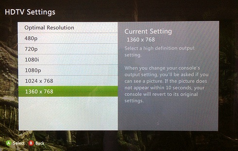 ideal hdtv settings for xbox 360 | snax